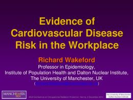 Evidence of Cardiovascular Disease Risk in the Workplace