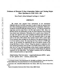 Evidence of Elevated X-Ray Absorption Before and During Major Flare ...