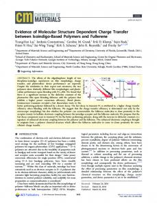 Evidence of Molecular Structure Dependent ... - ACS Publications