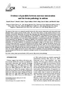 Evidence of parallels between mercury intoxication and ... - MEDNAT.org