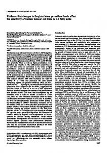 Evidence that changes in Se-glutathione peroxidase levels affect the ...