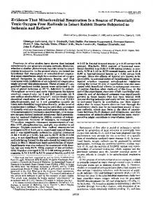 Evidence That Mitochondrial Respiration Is a Source of Potentially ...