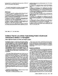 Evidence That the Low-Affinity Folate-Binding ... - Clinical Chemistry