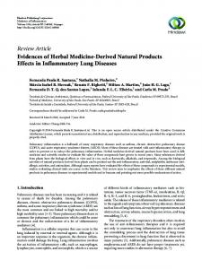 Evidences of Herbal Medicine-Derived Natural Products Effects in ...