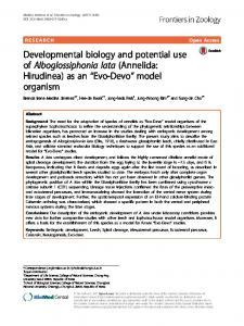 Evo-Devo - Frontiers in Zoology - BioMed Central