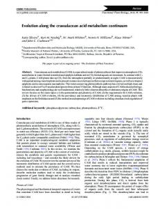 Evolution along the crassulacean acid metabolism ... - CSIRO Publishing