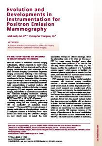 Evolution and Developments in Instrumentation for Positron ... - PINLAB