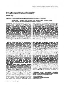 Evolution and human sexuality - Wiley Online Library
