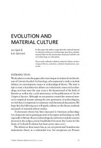 evolution and material culture - DiVA