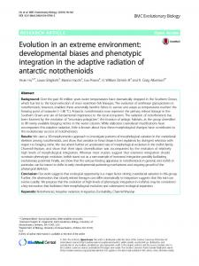 Evolution in an extreme environment ... - Semantic Scholar
