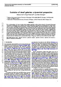 Evolution of dwarf galaxies: a dynamical perspective