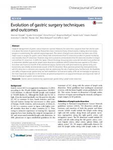 Evolution of gastric surgery techniques and outcomes