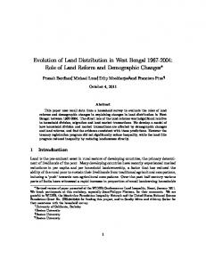 Evolution of Land Distribution in West Bengal 1967 ... - Boston University
