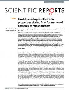 Evolution of opto-electronic properties during film