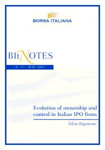 Evolution of ownership and control in Italian IPO firms