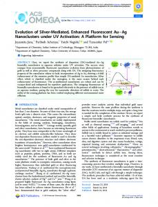 Evolution of Silver-Mediated, Enhanced ... - ACS Publications