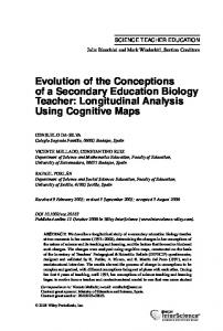Evolution of the conceptions of a secondary ... - Wiley Online Library