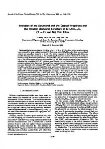 Evolution of the Structural and the Optical Properties