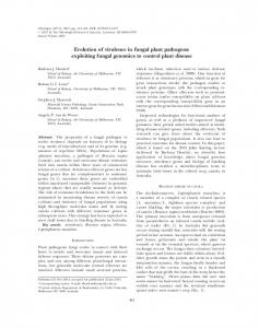 Evolution of virulence in fungal plant pathogens: exploiting fungal ...