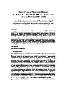evolution of wireless mobile communication networks and ... - AIRCC