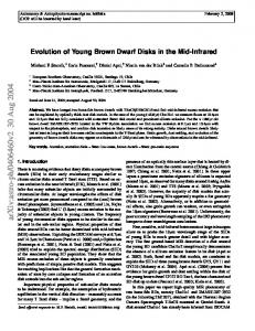 Evolution of Young Brown Dwarf Disks in the Mid-Infrared