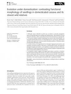 Evolution under domestication: contrasting ... - Wiley Online Library