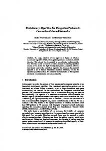 Evolutionary Algorithm for Congestion Problem in