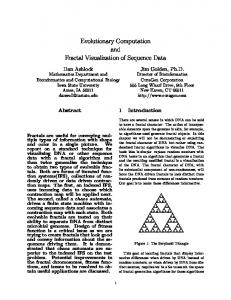 Evolutionary Computation and Fractal ... - University of Guelph
