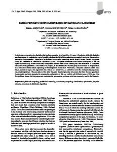 Evolutionary computation based on Bayesian