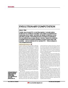 evolutionary computation - Nature