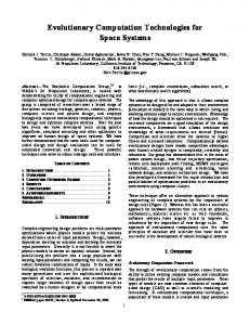 Evolutionary Computation Technologies for Space Systems