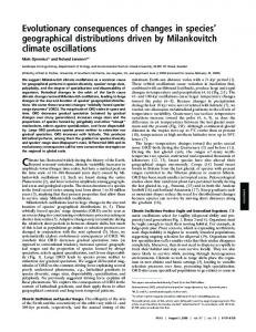 Evolutionary consequences of changes in species' geographical ...