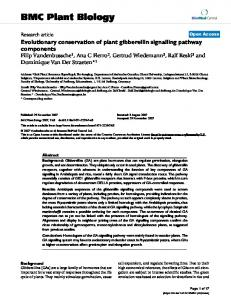 Evolutionary conservation of plant gibberellin signalling pathway ...