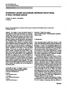 Evolutionary parallel and gradually distributed lateral tuning of fuzzy ...