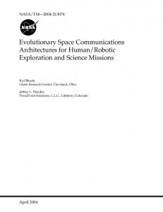Evolutionary Space Communications Architectures for Human/Robotic ...