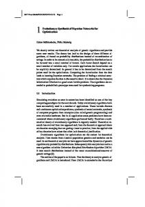 Evolutionary Synthesis of Bayesian Networks for ... - muehlenbein.org