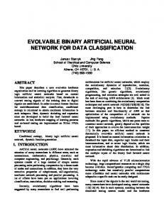 evolvable binary artificial neural network for data classification
