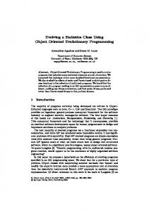 Evolving a Statistics Class Using Object Oriented