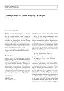 Evolving Grounded Spatial Language Strategies