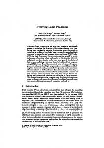 Evolving Logic Programs - Semantic Scholar