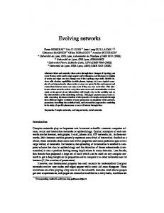 Evolving networks - Semantic Scholar