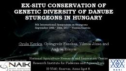 Ex-situ conservation of genetic diversity of Danube ...