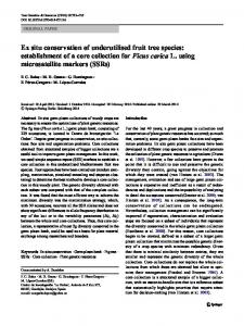 Ex situ conservation of underutilised fruit tree species - Springer Link
