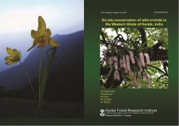 Ex-situ Conservation of Wild Orchids in the Western