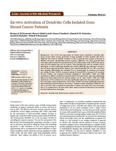 Ex-vivo Activation of Dendritic Cells Isolated from ...