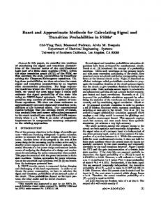 Exact and Approximate Methods for Calculating Signal ... - CiteSeerX