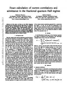 Exact calculation of current correlations and admittance in the ... - arXiv