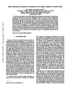 Exact dynamics of quantum correlations of two qubits coupled to ...