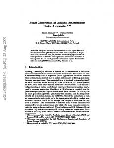 Exact Generation of Acyclic Deterministic Finite Automata