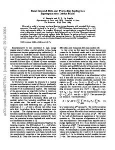 Exact Ground State and Finite Size Scaling in a Supersymmetric ...